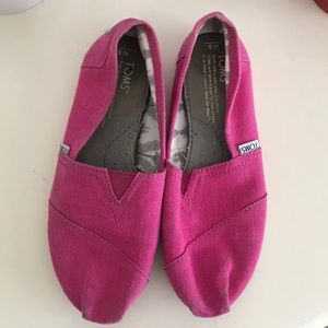 TOMS Hot Pink Shoes